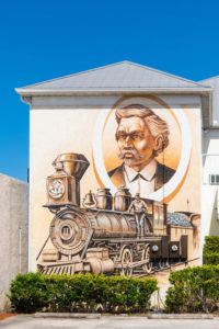 Punta Gorda train mural