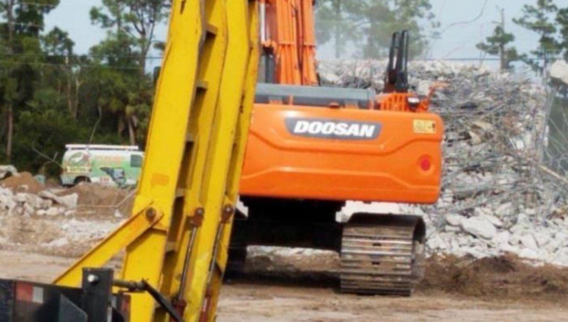 Image of construction trucks